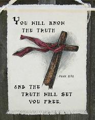 """""""E conhecerão a verdade, e a verdade os libertará"""". (João 8:32)"""